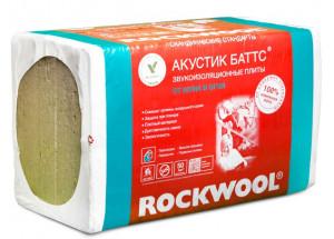 Каменная вата АКУСТИК БАТТС 1000 х 600 х 50 мм 10 штук в упаковке