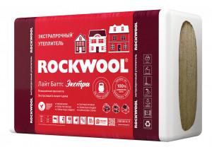 Каменная вата ROCKWOOL Лайт Баттс ЭКСТРА 1000 х 600 х 100 мм 4 штуки в упаковке
