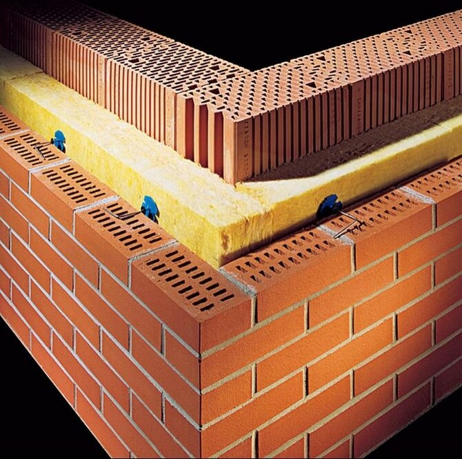 Варианты утепления зданий из кирпича